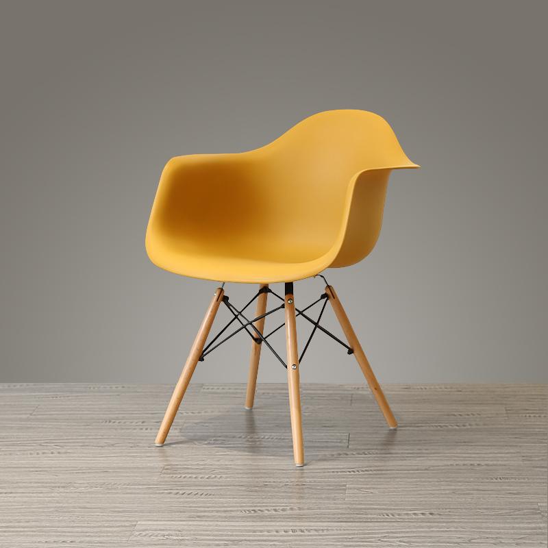 白色靠背椅简约北欧塑料时尚休闲椅 后现代创意靠背扶手餐椅子