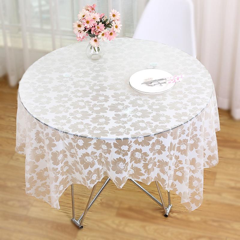 使い捨てのテーブルクロスの大きさは円卓布、防水テーブルクロスの白い厚いプラスチックテーブル、赤い結婚祝いのテーブル席です。