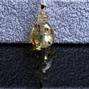 绯世珠宝 天然波罗的海琥珀爆花挂绳水滴吊坠 女款