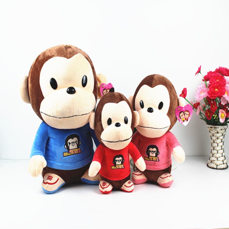 小猴子毛�q玩具公仔布娃娃可�鄞笞旌�和�玩偶那女孩生日�Y物包�]