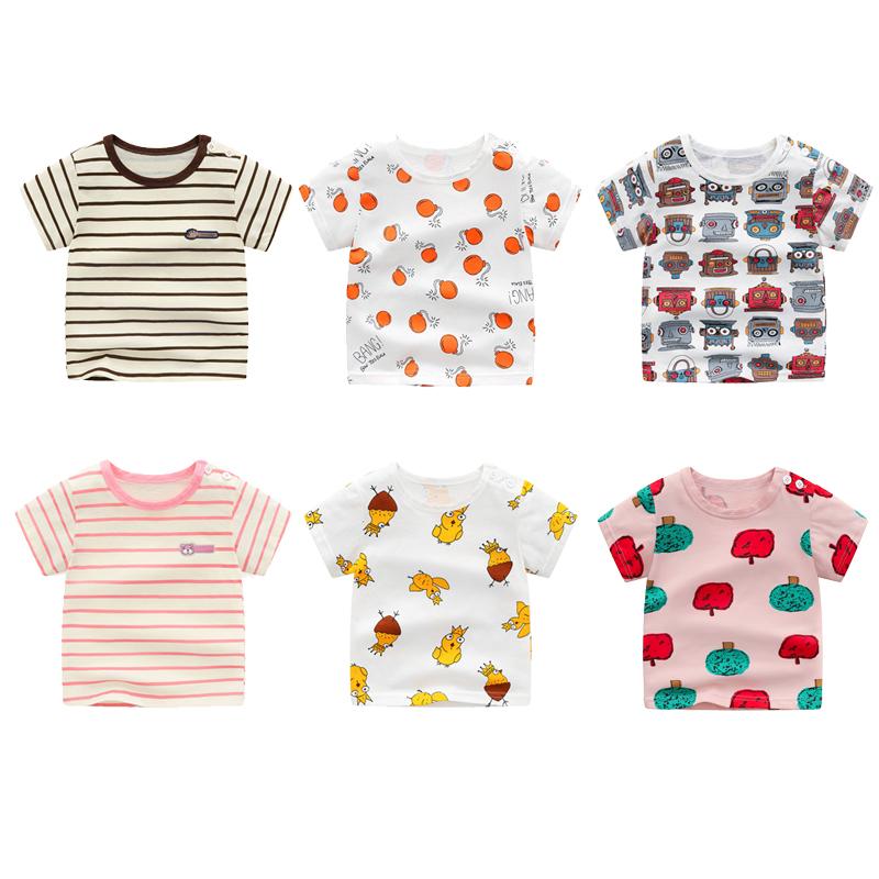 2017夏裝嬰兒衣服寶寶卡通短袖男童T恤百搭外出上衣半袖潮 女