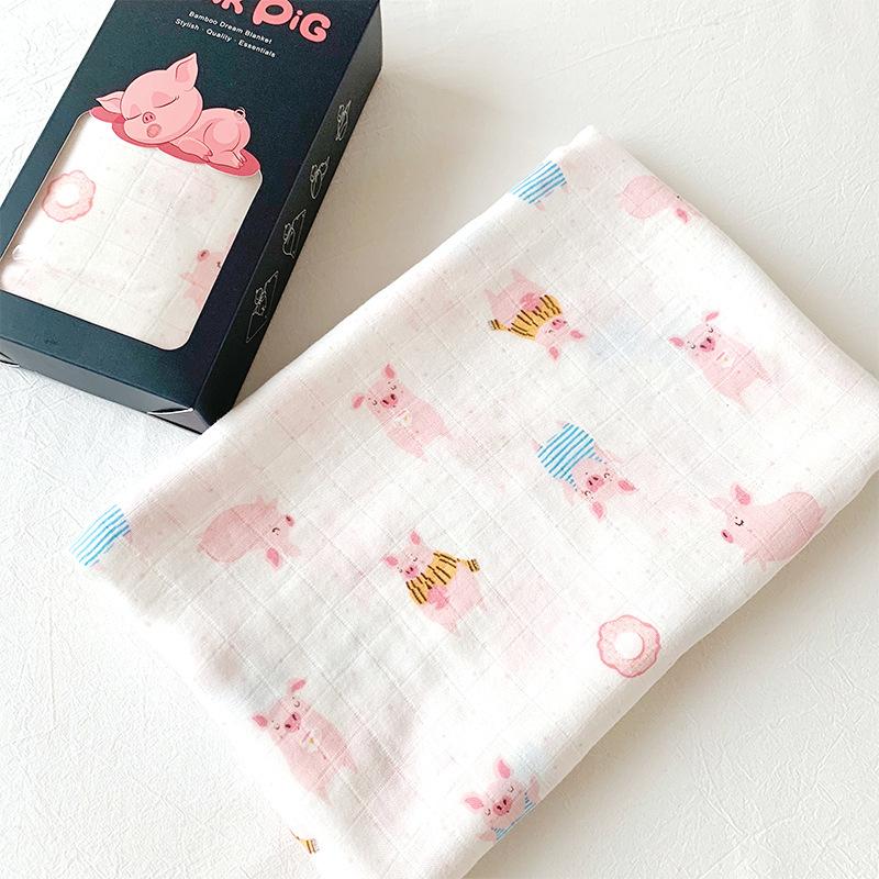 新生儿双层纱布竹棉襁褓巾宝宝抱被