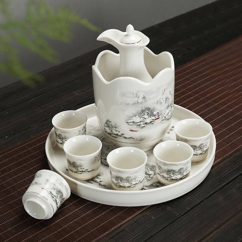 陶瓷酒具套装清酒温酒壶日式白酒酒杯烫酒壶家用中式黄酒热暖酒器