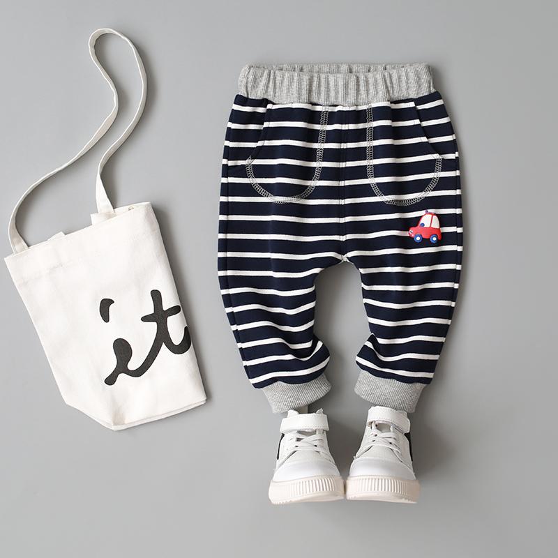 乐努比童装男宝宝春装哈伦裤0-1-2-3-4岁男童裤子婴儿可开裆长裤