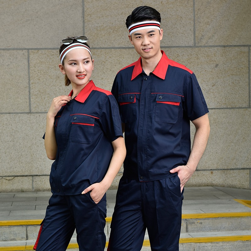 Anti static uniform half sleeve engineering uniform vehicle maintenance uniform electrician uniform gas station uniform gas station tooling