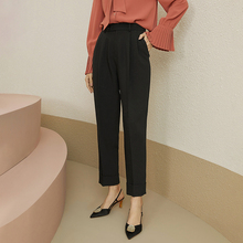 Fansi lanen 2020 spring new straight tube pants women's loose straight tube casual pants women's slim all-around suit pants