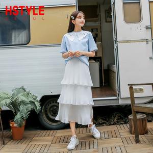 韩都衣舍2019很仙的新款夏装女网红蛋糕裙套装两件套洋气减龄时尚