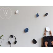 北欧风文艺玄关入户客厅墙面卧室衣帽包挂钩子树叶子创意莫兰迪色
