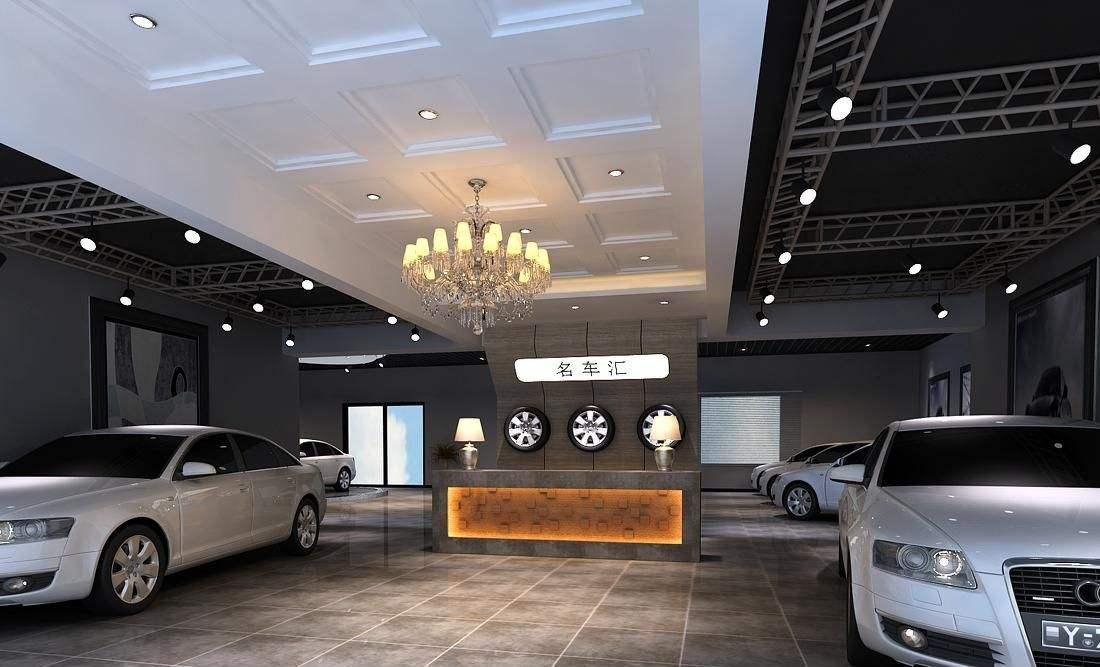 汽车城4S专卖店 CAD施工图纸车展装修车站展厅3D效果图规划设计