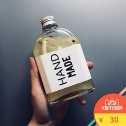 果汁饮料瓶网红奶茶瓶100ml玻璃带盖扁二两赠品小酒瓶保健白酒瓶