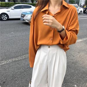 春季女装宽松百褶雪纺衫长袖衬衣韩版设计感小众上衣复古港味衬衫