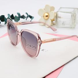 时尚优雅偏光太阳眼镜 女 复古相钻方框墨镜TR90开车驾驶镜粉色潮图片
