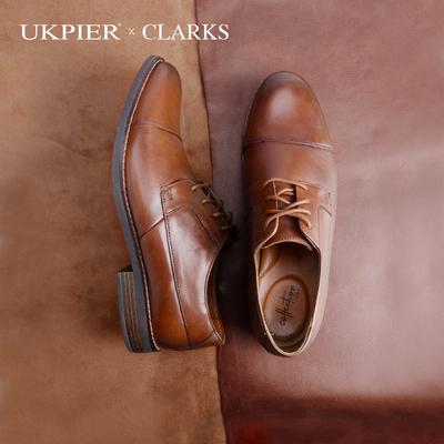 clarks其乐男鞋2020春季款经典英伦风商务正装皮鞋Becken Cap现货