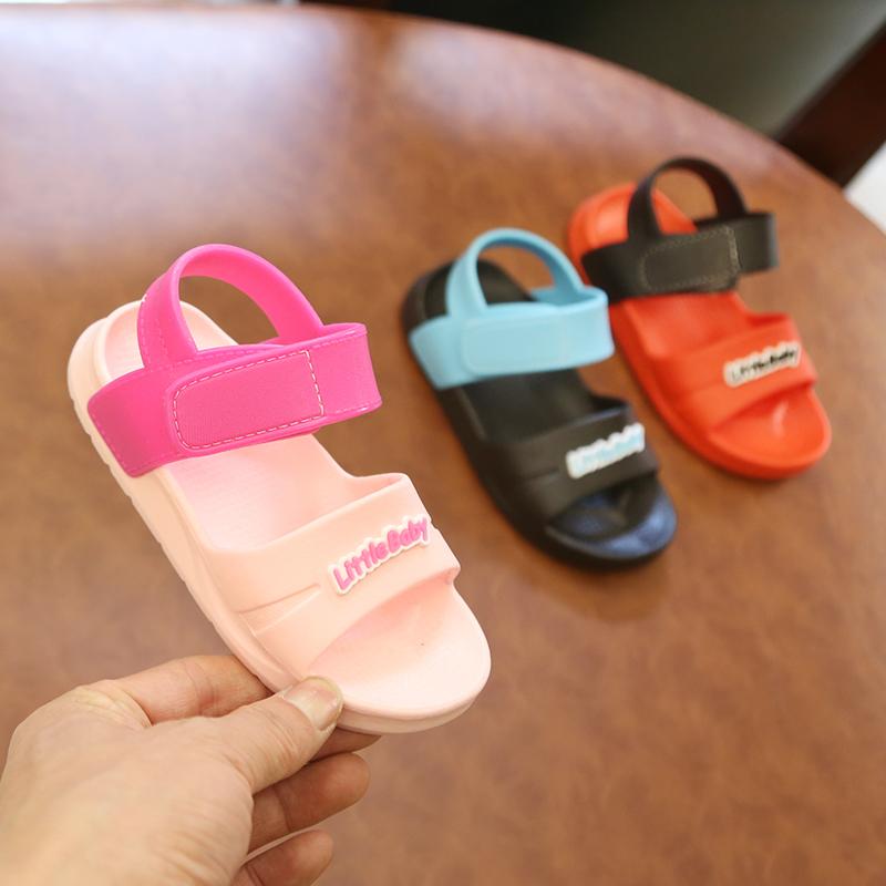 儿童凉鞋夏季软底防滑男童宝宝学步鞋女童凉拖鞋公主沙滩鞋1-3岁10-16新券