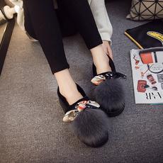 2018新款包跟外穿棉拖鞋