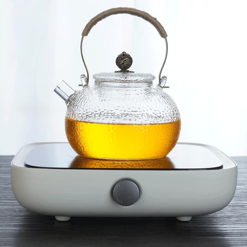 新品三界电陶炉锤纹耐高温提梁玻璃壶电陶炉耐热煮茶壶直火加热淘宝优惠券