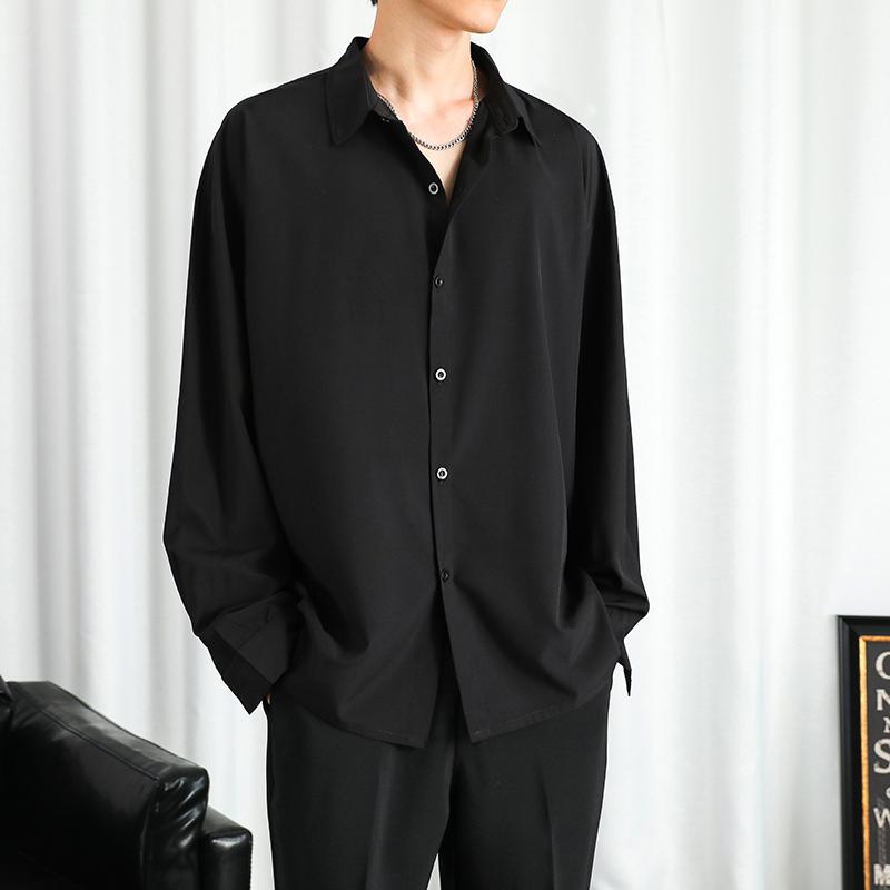 衬衫男秋季新款港风宽松长袖衬衣CY008-P30 (大量现货)