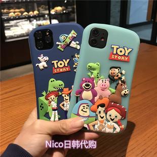 日本代購迪士尼iphone11pro玩具總動員適用蘋果max手機殼XS硅膠7p