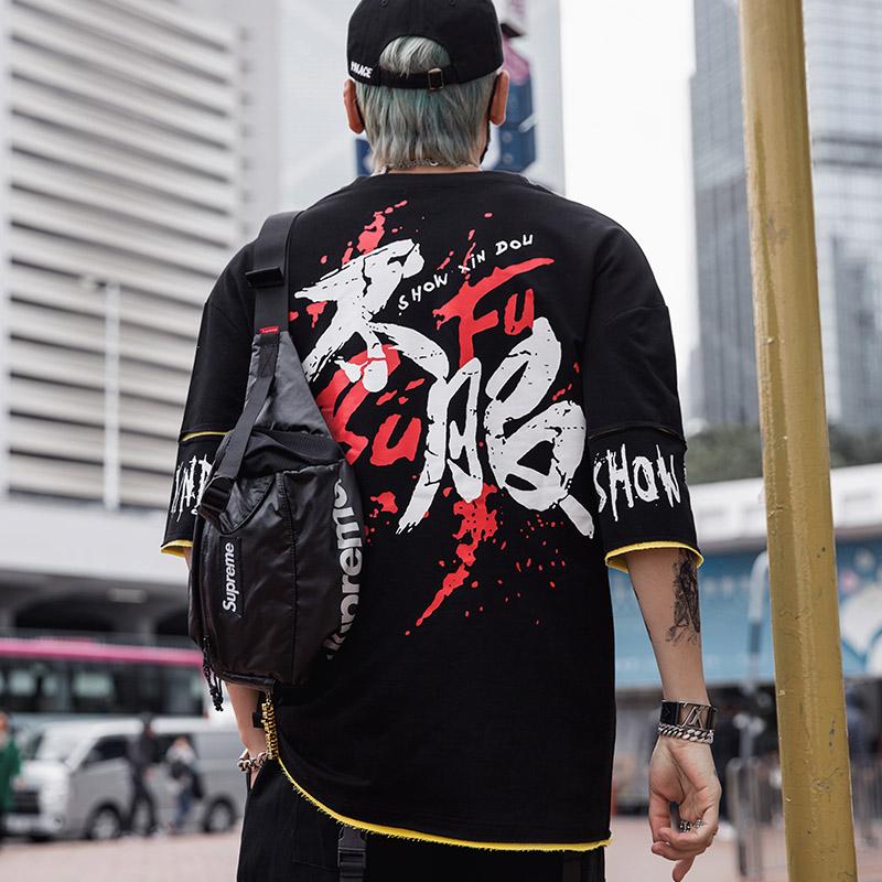 欧美潮牌嘻哈街舞衣服hiphop男t恤11月30日最新优惠