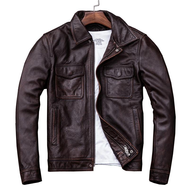 男士黑皮衣搭配什么:男士复古皮衣搭配