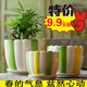 A large indoor wholesale ceramic flowerpot flowerpot with a plastic tray succulents creative meat pot