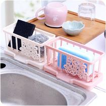 水池置物架水龙头海绵沥水架收纳架收纳挂篮厨房水槽塑料沥水篮