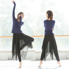 舞蹈服套装女成人古典现代民族舞练功服形体教师纱裙裤飘逸跳舞服