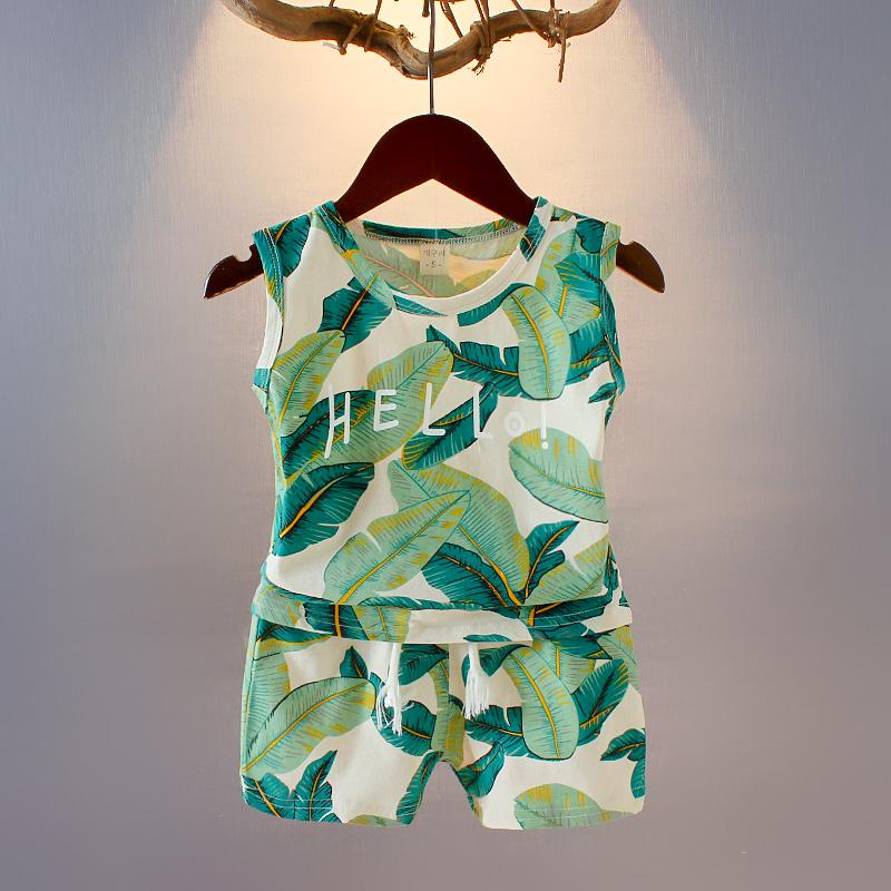 Quần áo trẻ em đẹp trai không tay phù hợp với mùa hè 2020 thời trang trẻ sơ sinh trẻ em mùa hè bé trai Hàn Quốc - Phù hợp với trẻ em