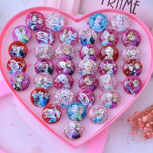 儿童戒指女童冰雪奇缘爱莎公主可爱宝石钻石小戒子女宝宝女孩玩具