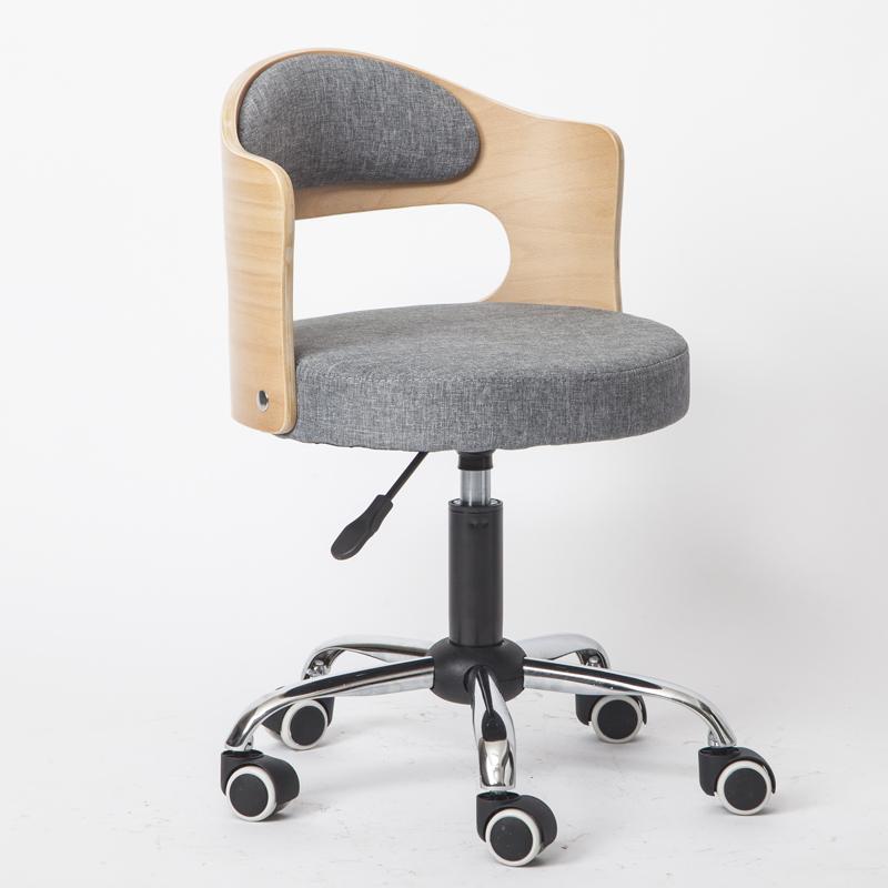 实木靠背书桌升降椅小户型现代简约书房电脑椅学生椅小巧家用转椅