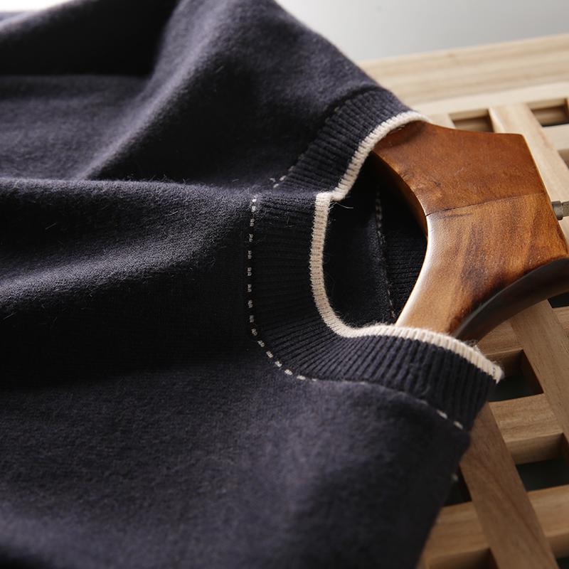 ODM公司货!轻奢线 可机洗!秋冬男士圆领休闲毛衣套头针织衫上衣