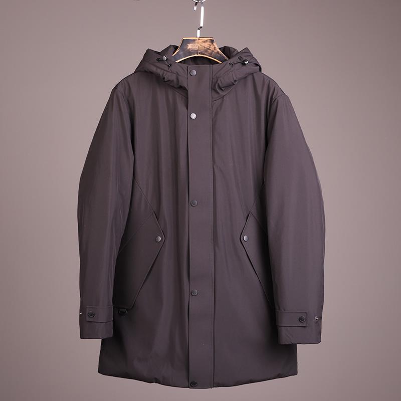 ODM公司货!热反射内里!冬季男士中长款加厚羽绒服连帽外套风衣