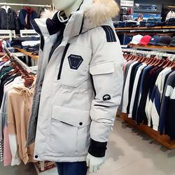 韩国RunningMan跑男同款户外工装情侣加厚羽绒服男女中长款外套