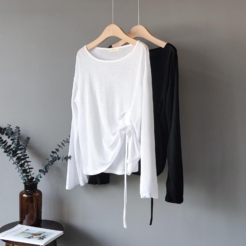 2019夏季新款微透冰丝罩衫韩版t恤65.00元包邮