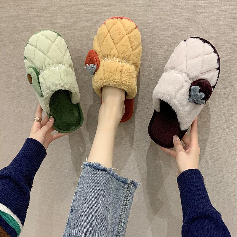 棉拖鞋女冬室内可爱月子厚底毛拖鞋性价比好不好