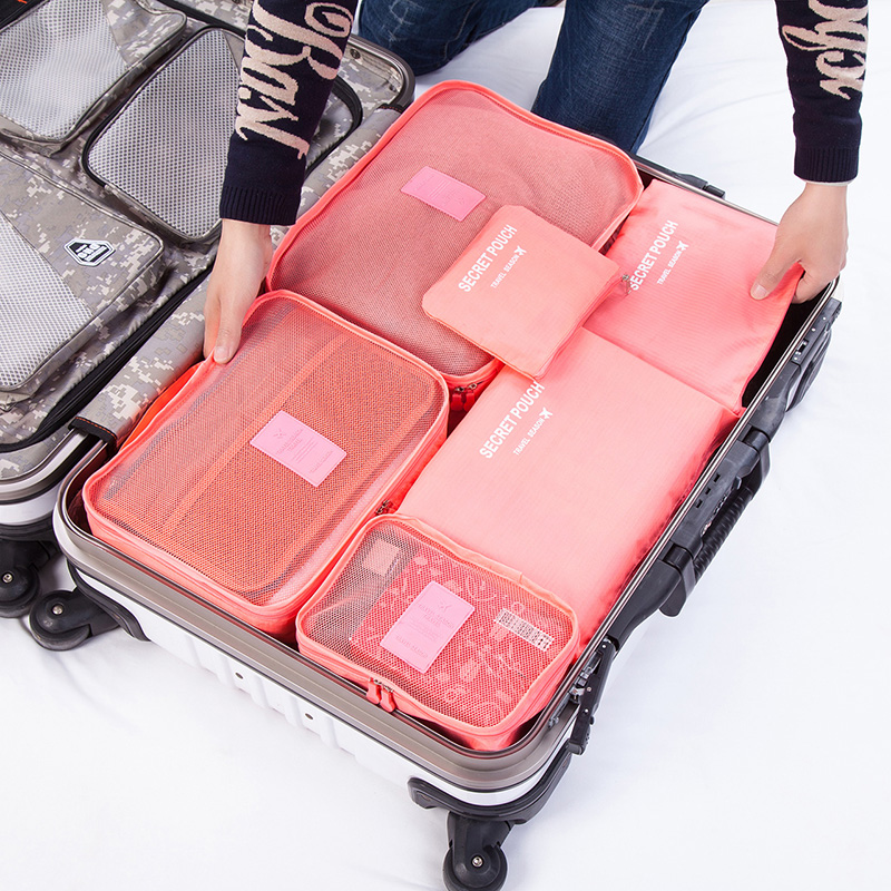 Necessary articles for business trip: storage bag, packing and sorting bag, make-up bag, mens travel washing bag, womens toilet bag