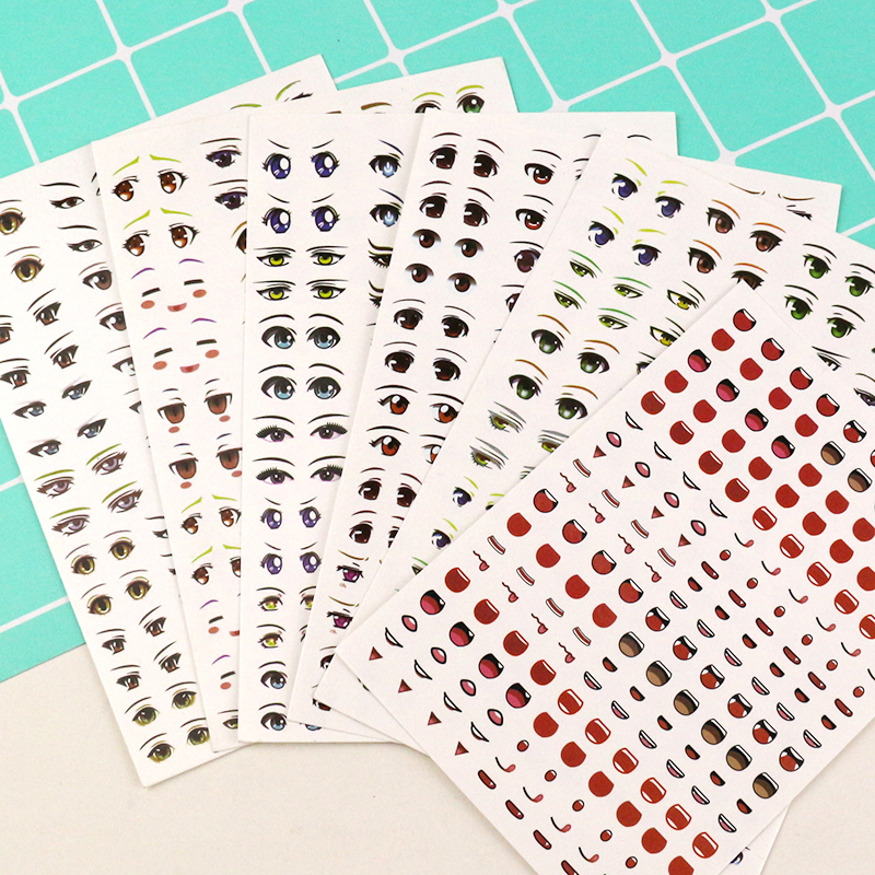 Super light clay clay clay doll eye water sticker BJD doll eye sticker Q cartoon cartoon sticker