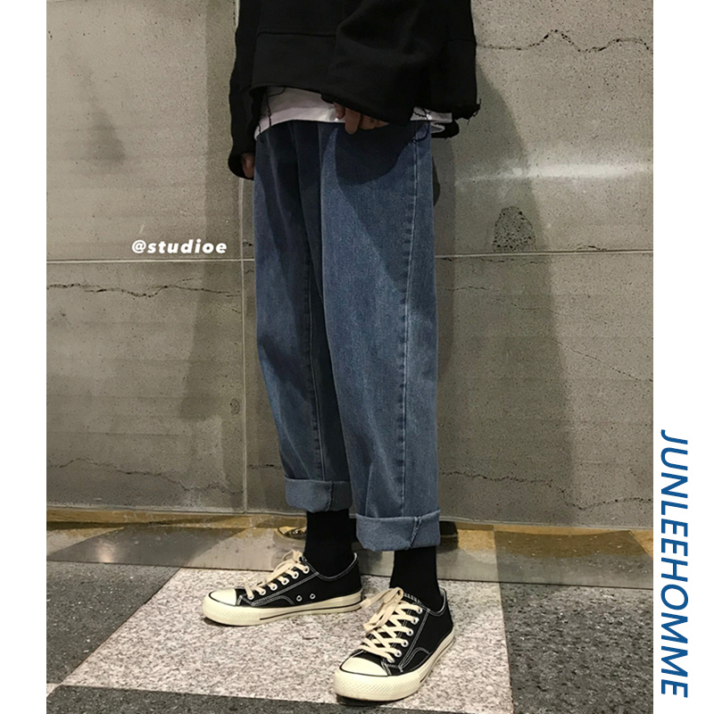@港仔文艺男港味宽松复古直筒裤子(非品牌)