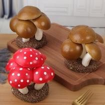 仿真蔬菜模型PU蘑菇草菇平茹食物摆件草坪农家乐装饰摆设拍摄道具