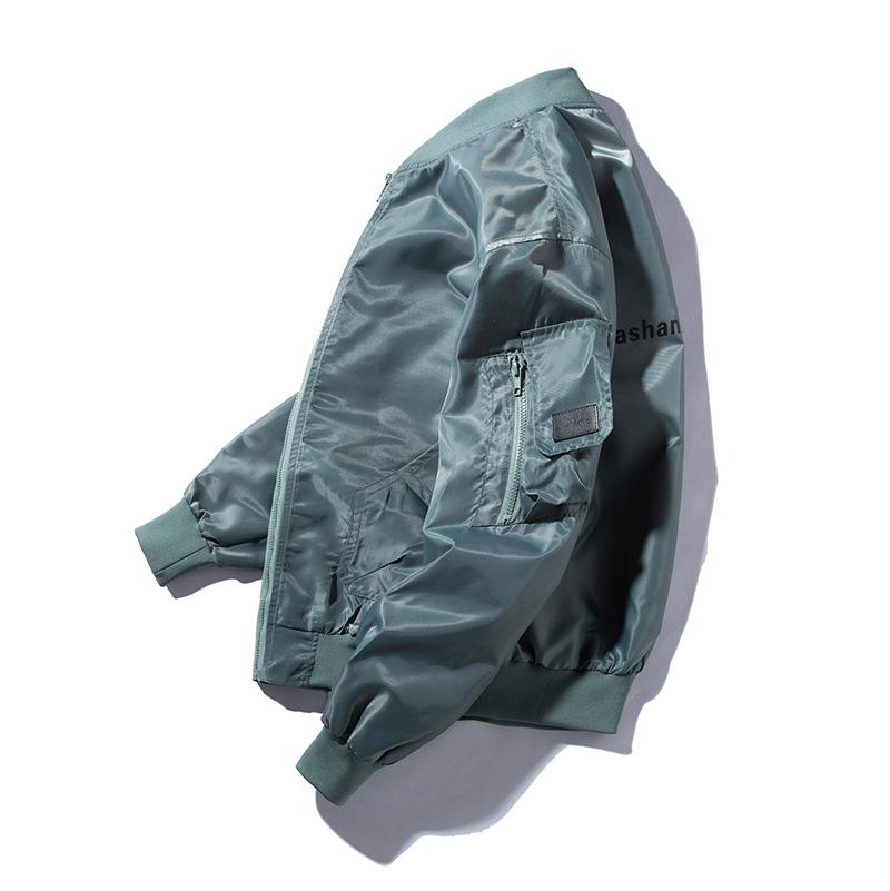秋冬季工装外套潮牌空军MA1飞行员夹克男韩版潮流宽松加厚棒球服图片