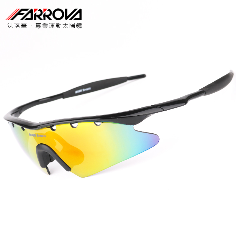 [5 sets of lenses] farowa sports glasses are equipped with mountain motorcycle anti fog glasses and night riding glasses for myopia