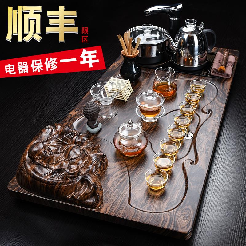 Чайный сервиз домой пакет усилие чайный сервиз простой современный китайский стиль ретро гостиная чайный поднос автоматический чайная церемония