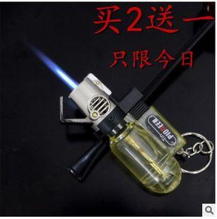 创意小型直冲防风大容量气体充气焊接气喷机男女打火机塑料打火机