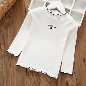 女童纯棉打底衫中小童秋款女宝宝2-3岁长袖上衣儿童秋冬保暖T恤衫