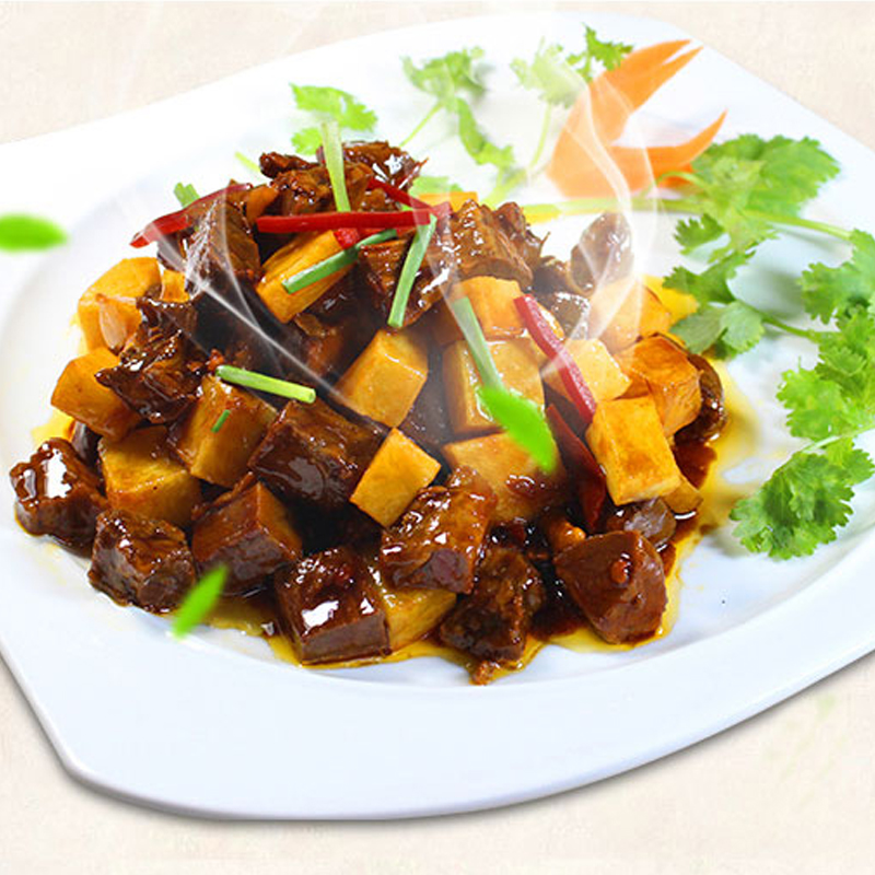 じゃがいもと牛肉の冷凍に便利な弁当インスタントインスタント丼のセット220 g