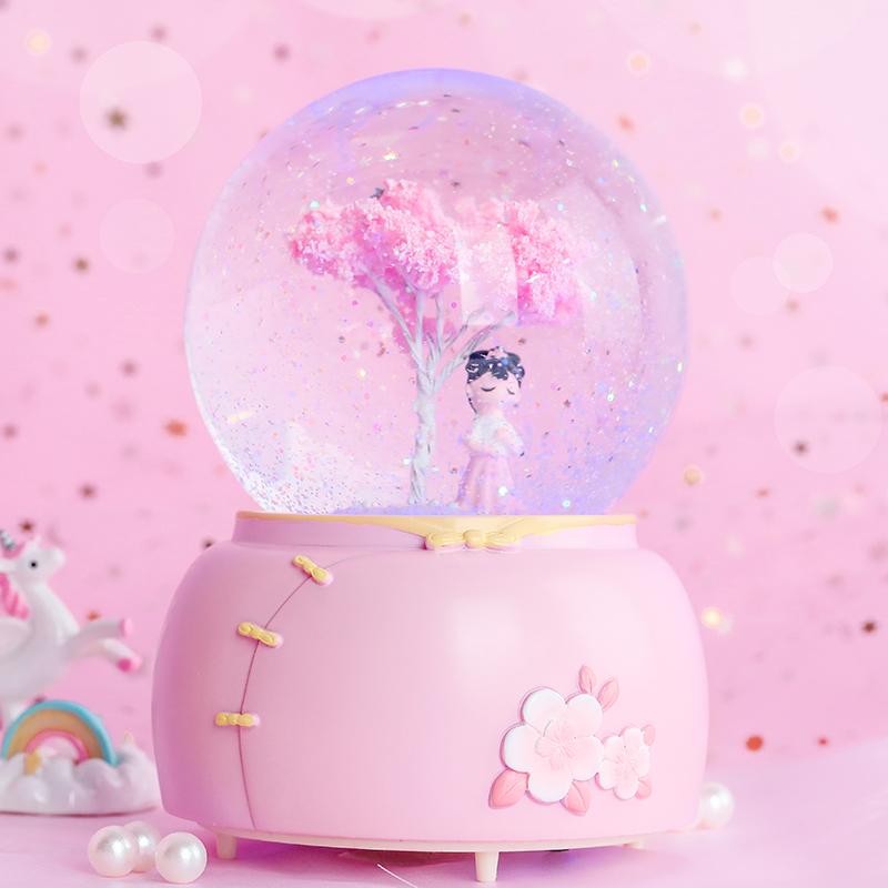Birthday gift crystal ball music box for girl friends