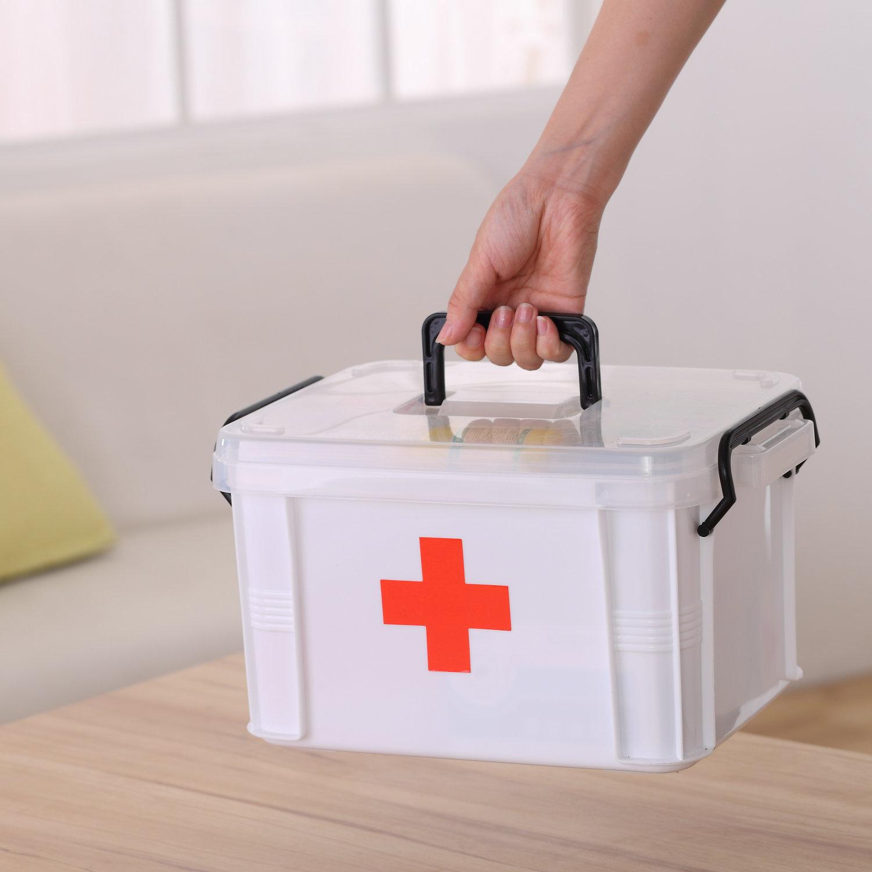 家用大號醫藥箱多層醫用急救藥品收納保健箱家用塑料兒童小藥箱
