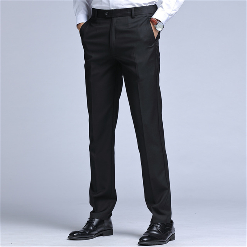Spring and autumn mens trousers mens business black suit pants mens slim trousers mens straight formal casual trousers