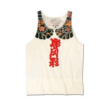 自言自语 日系小丑印花背心男纹身图案吊带复古宽松个性棉上衣棉
