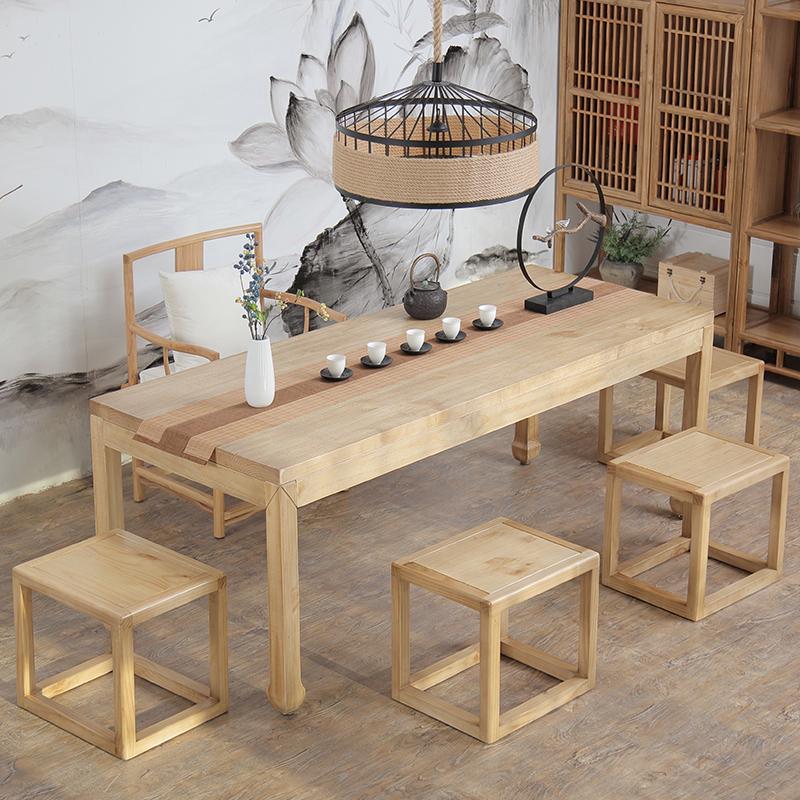 新中式茶桌椅组合现代简约实木茶几泡茶桌子喝茶桌椅功夫茶桌茶台